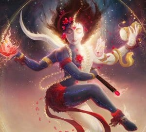Modern Dance Yoga goddess image